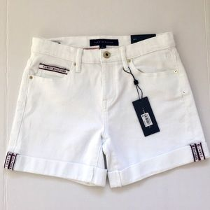 TOMMY HILFIGER WHITE JEAN SHORTS MID SIZE 2 NWT